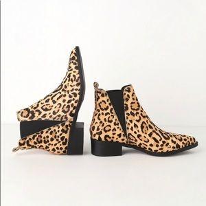 Steve Madden Leopard Print Pointy Toe Chelsea Boot